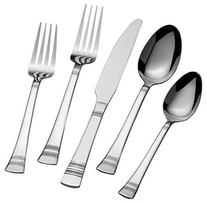 International Silver Kensington 51-Piece Stainless Steel Flatware Set, Service for 8