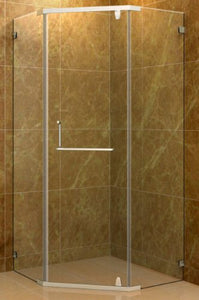 "Aston SEN973-36-10  36"" Neo-Angle Shower Enclosure, Chrome Hardware, 3/8"" (10Mm) Glass"