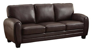 Homelegance 9734DB-3 Upholstered Sofa, Dark Brown Bonded Leather Match