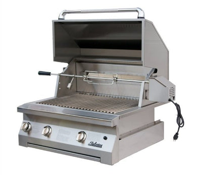 Solaire 30-Inch Infrared Propane Built-In Grill Rotisserie Kit, Stainless Steel