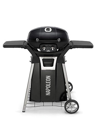 Napoleon TravelQ PRO285 Portable Tabletop Grill on Cart (PRO285N-BK-PRO285-STAND), Natural Gas