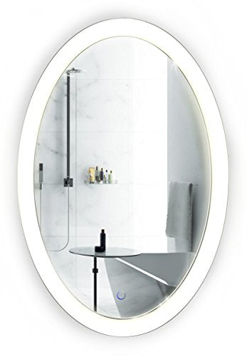 Oval LED Bathroom Mirror 20 Inch x 30 Inch | Lighted Vanity Mirror Includes Dimmer & Defogger | | Wall Mount Vertical or Horizontal Installation |
