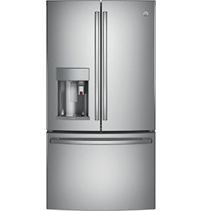 "GE Profile PYE22PSKSS 36"" Counter Depth French Door Refrigerator"