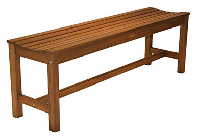 Outdoor Interiors 60404 3 Person Backless Eucalyptus Bench