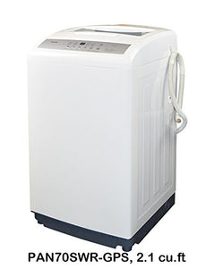 Panda PAN70SWR-GPS Larger Size Fully Automatic 2.1 cu. Ft. Topload Small Compact Portable Washing Machine, White