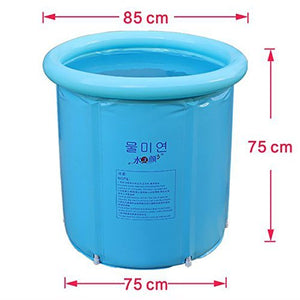 Happy Life Portable Plastic Bathtub, Blue