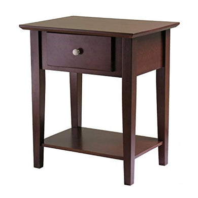 Winsome Wood Shaker Night Stand, Antique Walnut Finish