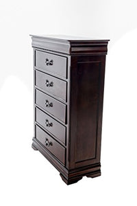 Home Source 50902008 American Classic Collection Asian Hardwood Chest, 52.2 by 16 by 38-Inch, Dark Cherry