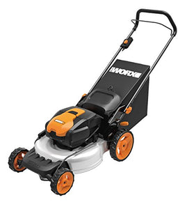 WORX WG772 56V Lithium-Ion 3-in-1 Cordless Mower with IntelliCut, 19-Inch, 2 Batteries and Charger Included