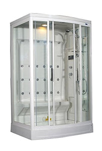 Aston ZA219-R 24 Body Jets Steam Shower, Right Hand, 52-Inch x 40-Inch x 85-Inch, White