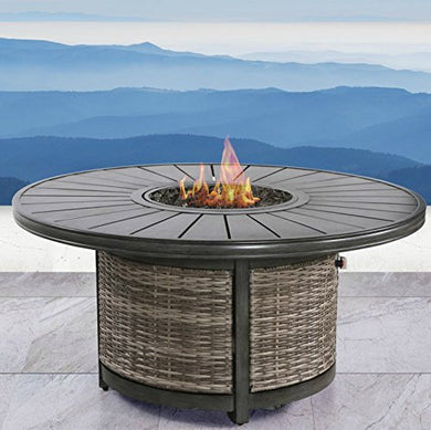 Century Modern Outdoor Fire Pit For Outdoor Home Garden Backyard Fireplace By (Espresso Table Fire Pit)