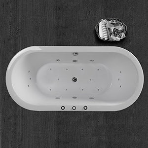 "WOODBRIDGE 67"" x 32"" Whirlpool Water Jetted and Air Bubble Freestanding Bathtub , B-0030 / BTS1606"