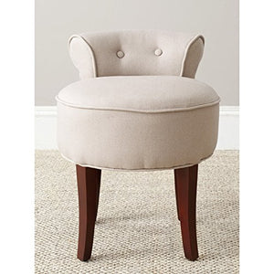 Safavieh Mercer Collection Vicki Light Beige Vanity Stool