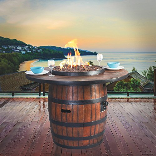 Bodega Fire Table — Wine Barrel Inspired