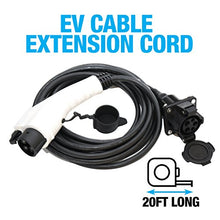 20 FT EV Charging Extension Cable by EV Gear | Electric Vehicle Extension Cord | Compatible with any J1772-2009 EV Charging Cable | Upgrades the Reach of your Electric or Hybrid Car Charging Station