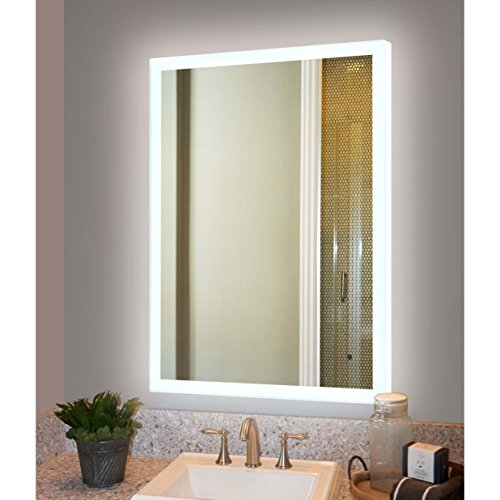 Innoci-USA Hera Rectangle LED Wall Mount Lighted Vanity Mirror Featuring Smart IR Sensor and Durable Aluminum Frame 48