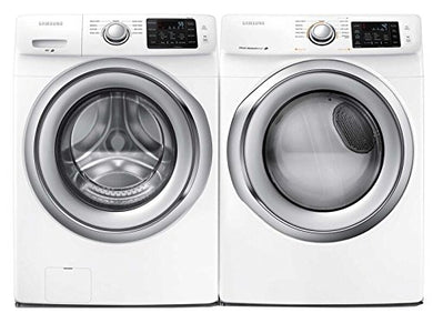 Samsung Appliance White Front Load Laundry Pair with WF42H5200AW 27