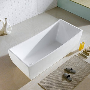 "MAYKKE Malibu 67"" Modern Rectanglar Acrylic Bathtub 