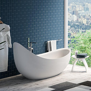 "MAYKKE Hialeah 79"" Modern Unique Specialty Acrylic Freestanding Bathtub 