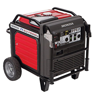 Honda Power Equipment EU7000IAT1 660270 7,000W Super Quiet Portable Inverter Generator with Electric Start, Steel