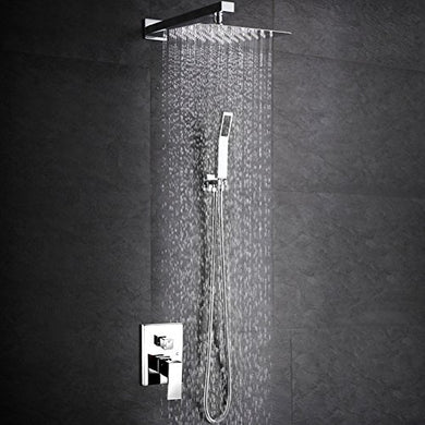 SR SUN RISE SRSH-F5043 Bathroom Luxury Rain Mixer Shower Combo Set Wall Mounted Rainfall Shower Head System Polished Chrome