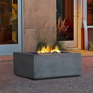Real Flame T9620NG-GLG Baltic Square Natural Gas Table, Glacier Gray