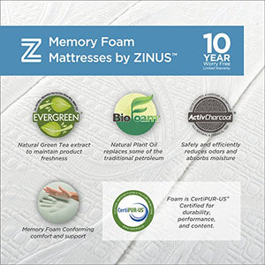 Zinus Sleep Master Cool Gel Memory Foam 5 Inch Sleeper Sofa Mattress, Replacement Sofa Bed Mattress, Queen