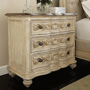 American Drew 598461 3-Drawers Bachelor Chest 3, whites