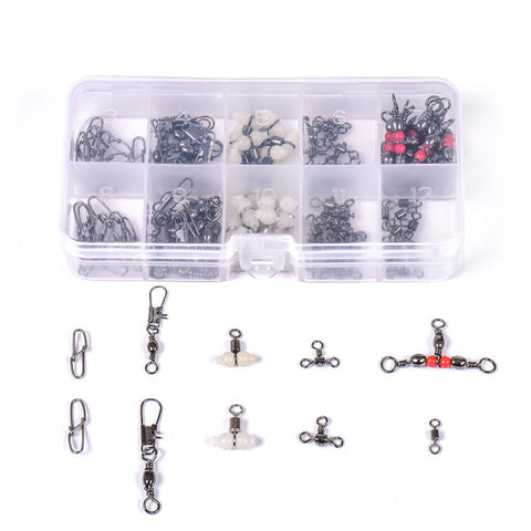 Stainless Steel Mixed Swivel & Snap Set - 100 Pack