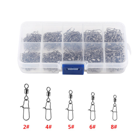 Stainless Steel Swivel Snap Set - 210 Pack