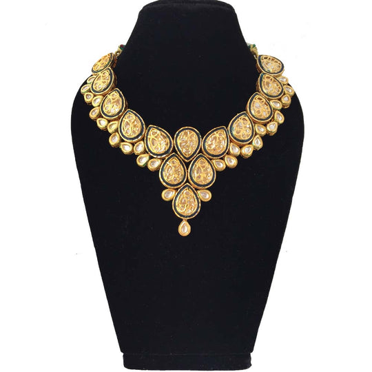 Made to Order - MO5 | Dark Blue Kundan Necklace