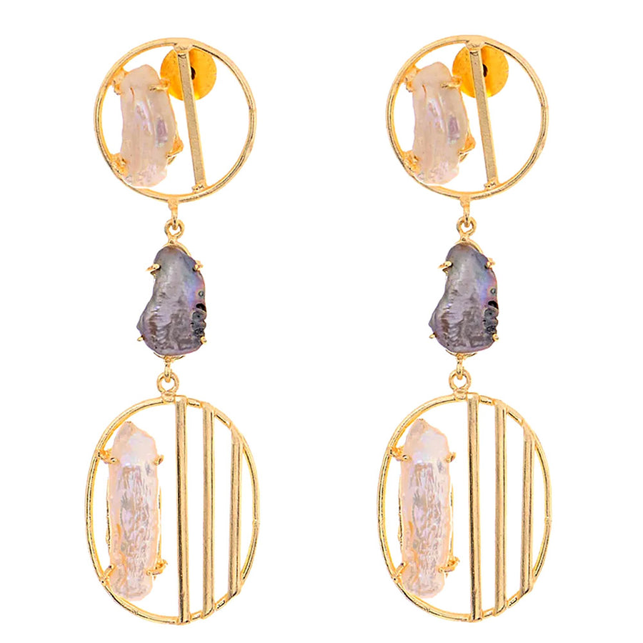 Zia Baroque Pearl Earrings