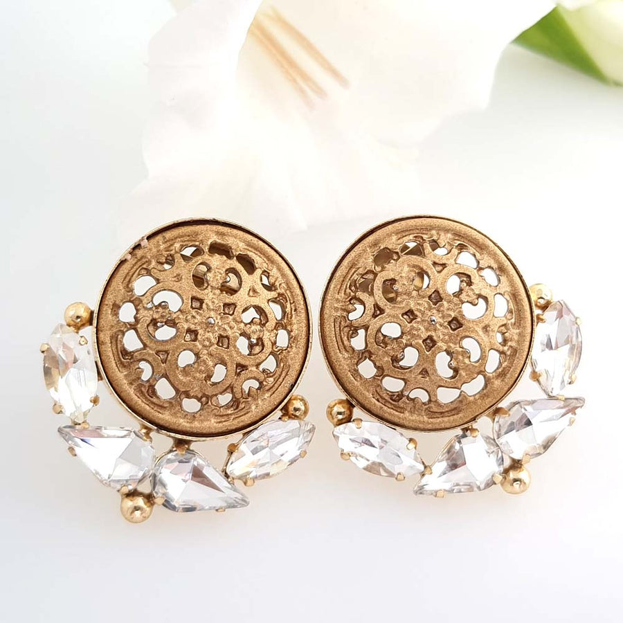 Exquisite Engraved Studs - Adrisya