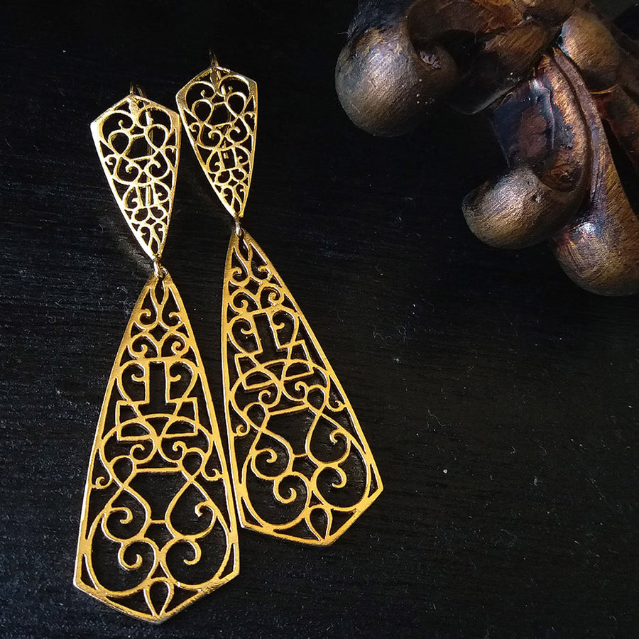 Paisley Di' Earrings - Adrisya ,Earrings - Fashion Jeweley, Adrisya - Shabnam Bhojwani, Adrisya - Adrisya ,