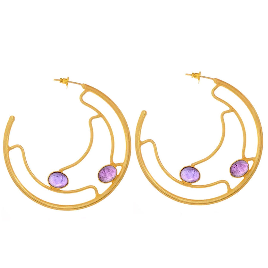 Gemma Hoop Earrings - Adrisya ,Earrings - Fashion Jeweley, Adrisya - Shabnam Bhojwani, Adrisya - Adrisya ,