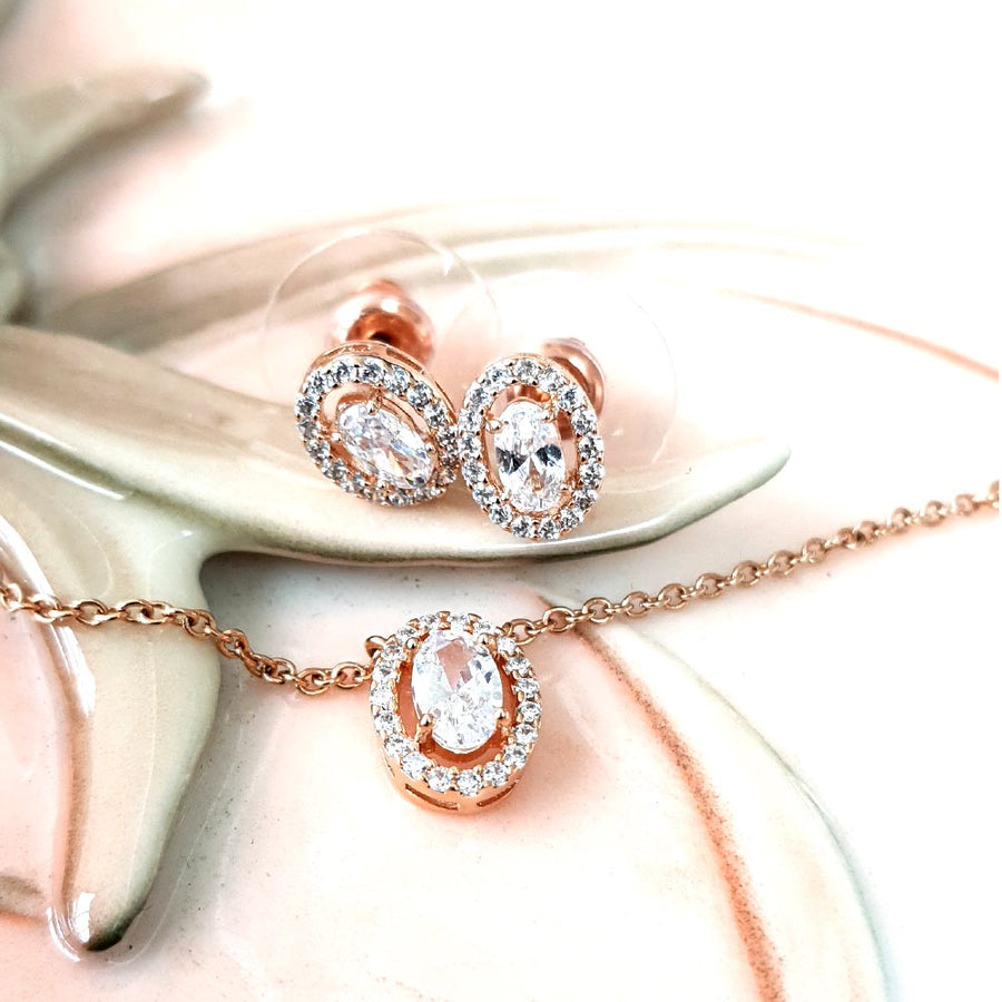 Radiant Oval Drop Set - Adrisya