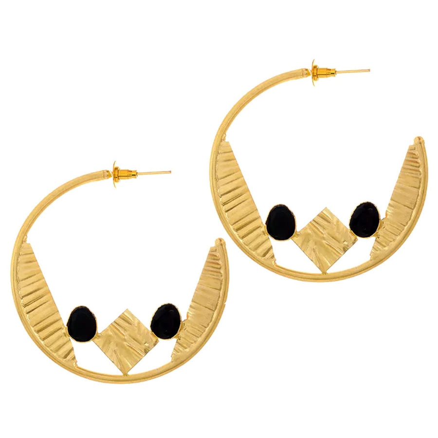 Jette Hoop Earrings - Adrisya ,Earrings - Fashion Jeweley, Adrisya - Shabnam Bhojwani, Adrisya - Adrisya ,