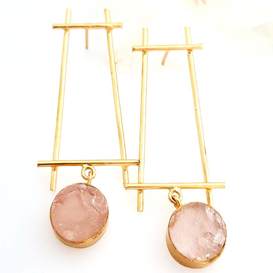 Hand Crafted Quartz Earrings - Adrisya