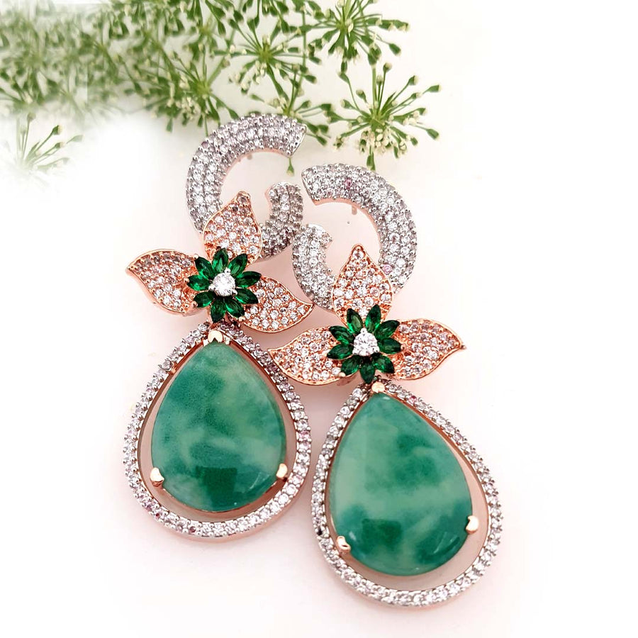 Stunning Green Danglers