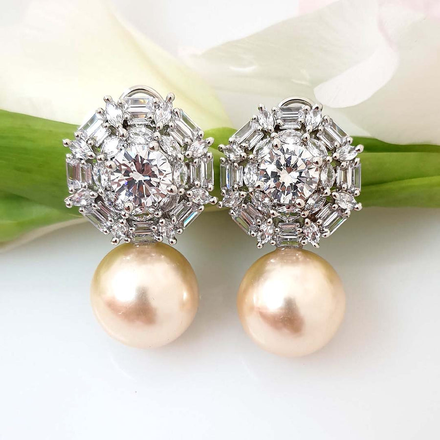 Luxurious Pearl Stud Earrings
