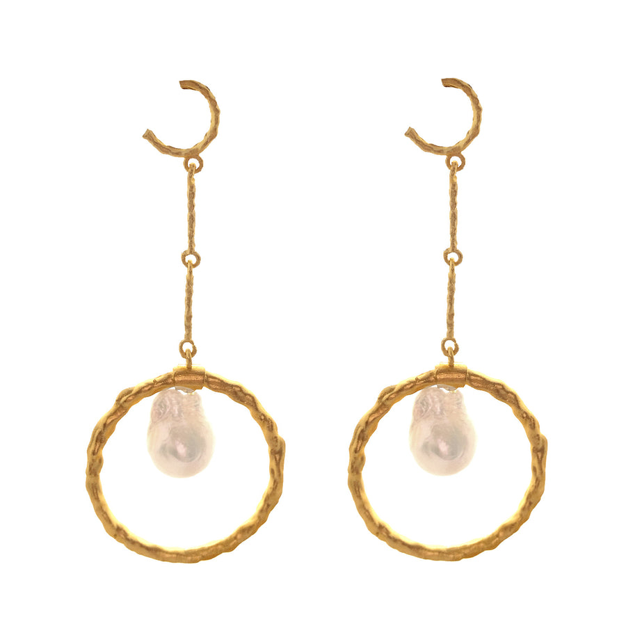 Dangler Baroque Pearl Earrings