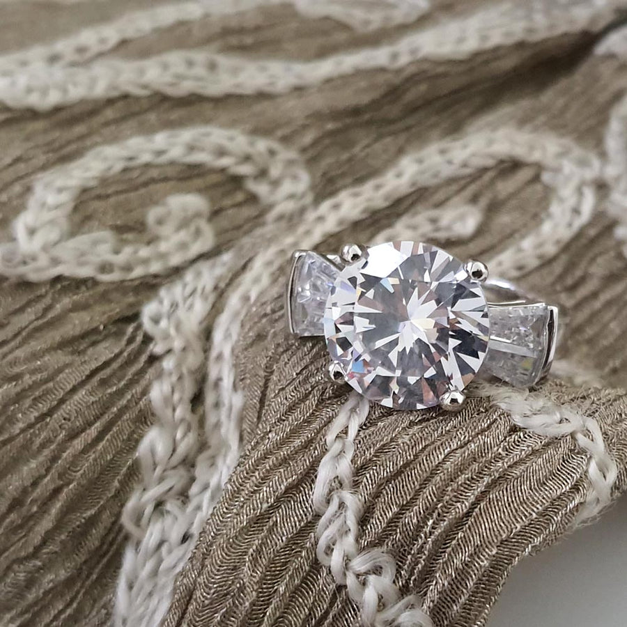 Stylish Solitaire Ring - Adrisya