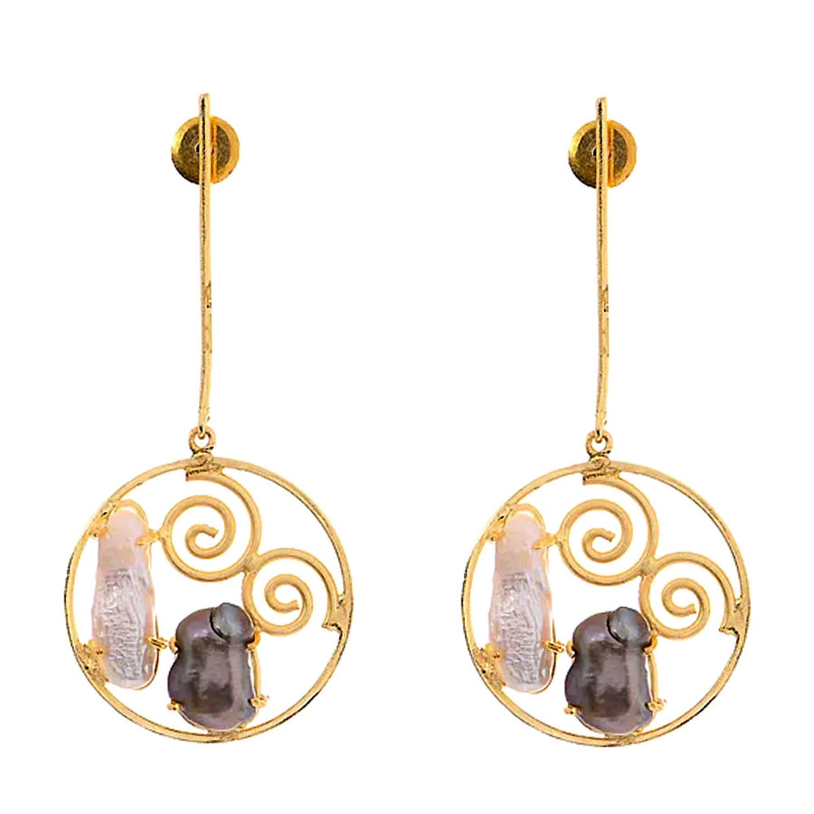 Pria Baroque Pearl Earrings - Adrisya ,Earrings - Fashion Jeweley, Adrisya - Shabnam Bhojwani, Adrisya - Adrisya ,