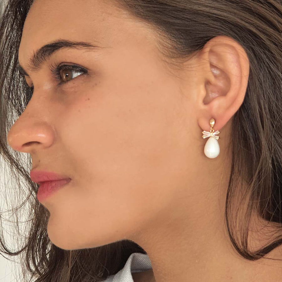 Classic Bow Earrings - Adrisya