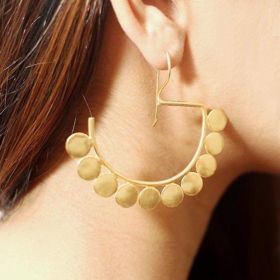 Tribal Half Hoop Earrings