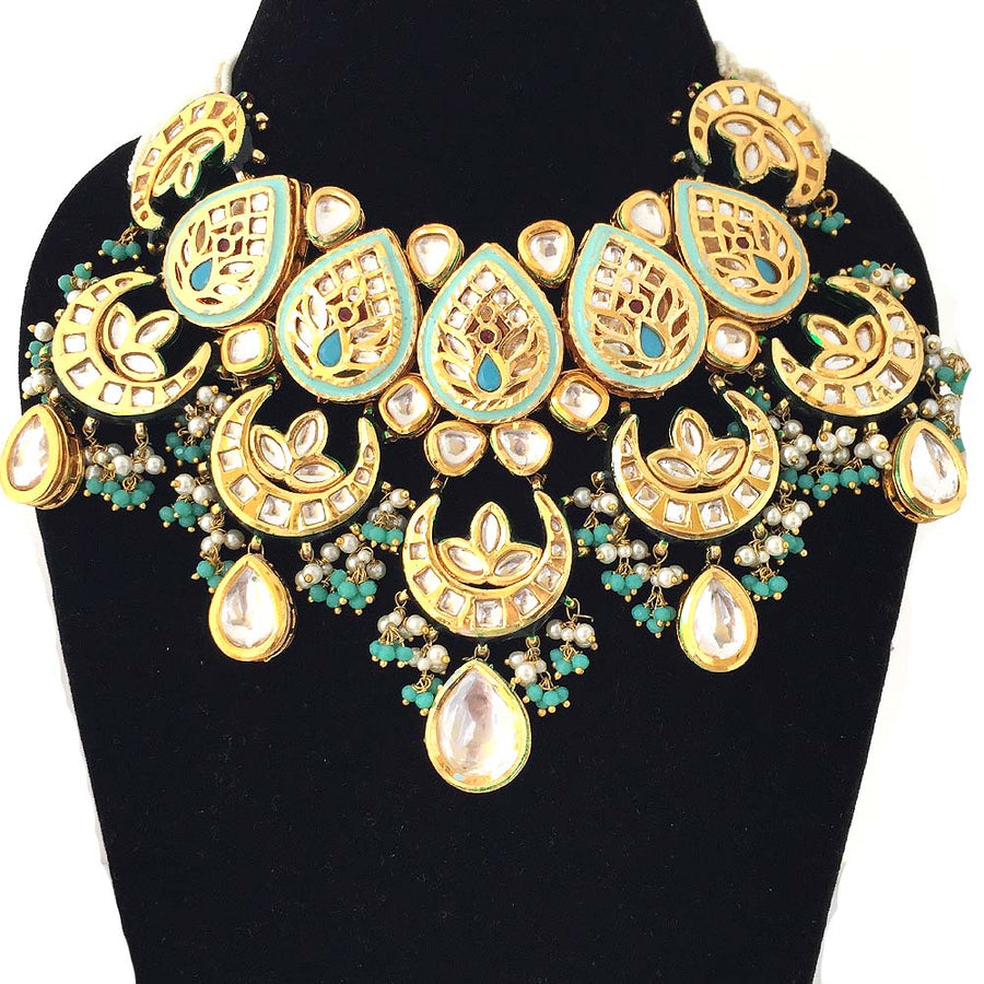 Fancy Kundan and Meenakari Necklace - Adrisya