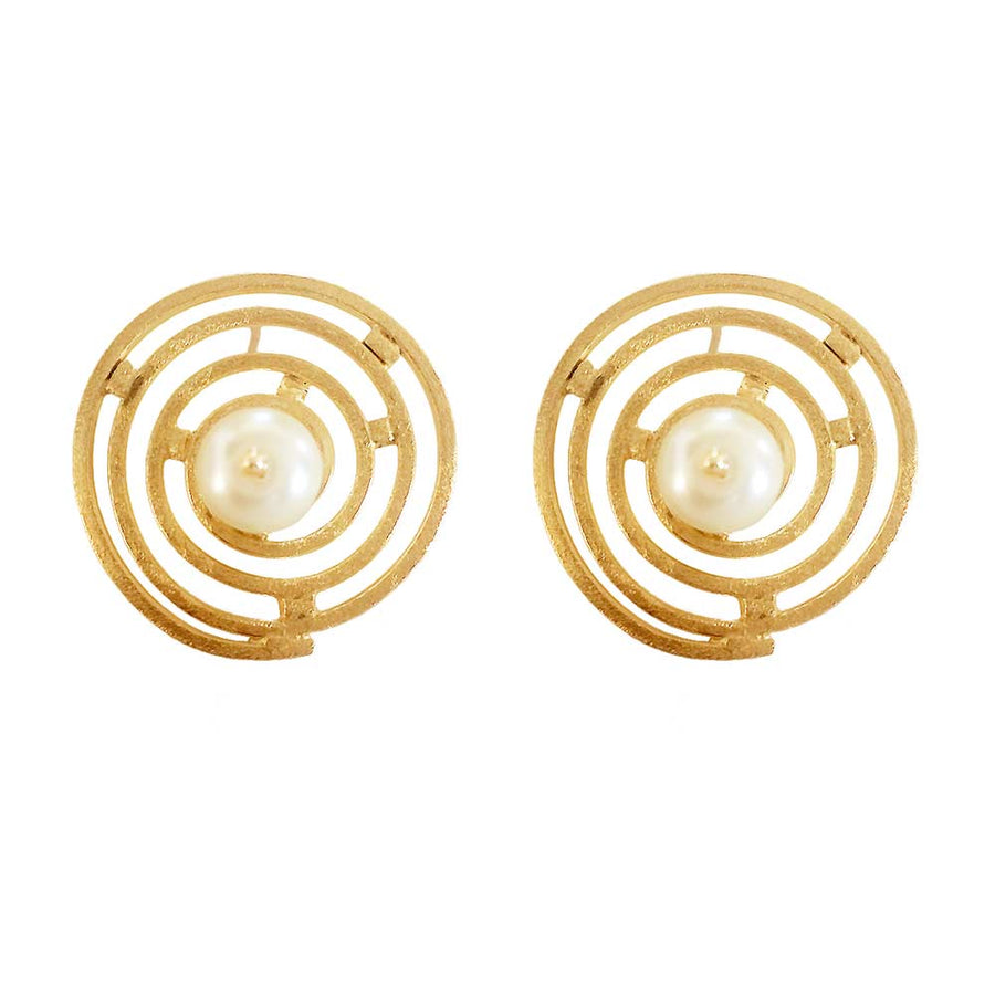 Twirl Stud Earrings - Adrisya ,Earrings - Fashion Jeweley, Adrisya - Shabnam Bhojwani, Adrisya - Adrisya ,
