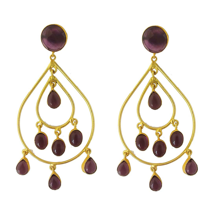 Purple Rain Earrings - Adrisya