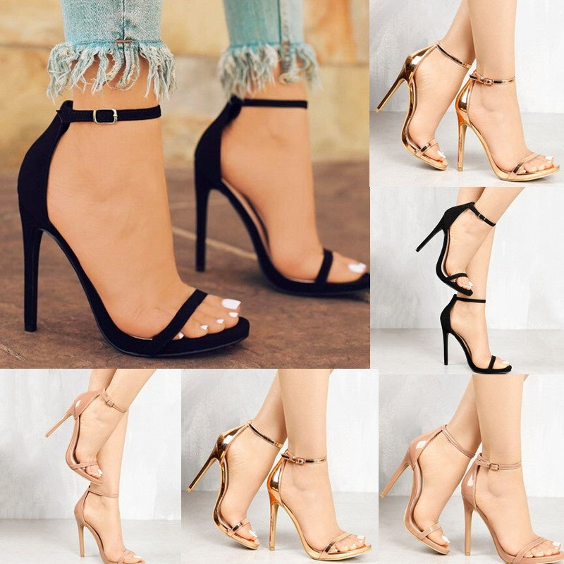 d343066dc5ca ... Women s Fashion Summer Sexy Open Toe High Heels Sandals Womans Casual  Stiletto Heels Shoes Womens Booties ...