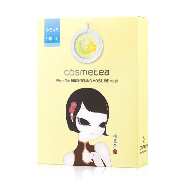Cosmetea White Tea Brightening Moisture Mask - 10 ea